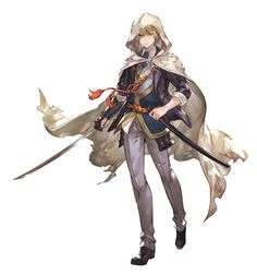 View an image titled 'Yamanbagiri Kunihiro Art' in our Granblue Fantasy art gallery featuring official character designs, concept art, and promo pictures. Game Character Design, Character Concept, Character Art, Diy Outfits, Anime Fantasy, Fantasy Art, Samurai, Cat Fountain, Cat Sketch