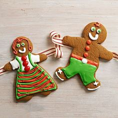 Bring the best guests to the party with our adorable Gingerbread People! How cute are they! http://www.bhg.com/christmas/recipes/christmas-sweets/?socsrc=bhgpin121614gingerbreadpeople&page=12