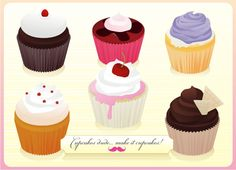 Free vector cupcakes!