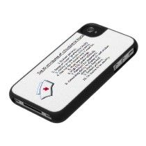 Top 10 Attributes of a Psych. nurse/with nurse cap Iphone 4 Case by avisnoelledesigns