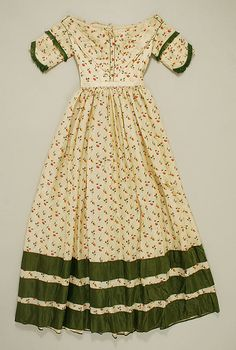 Silk 1840s - I think this is really pretty and simple...trim could be used for later as well.