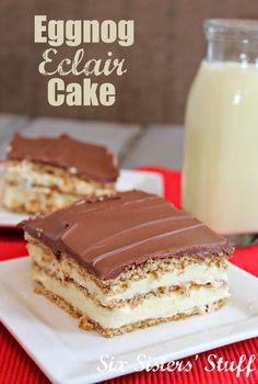 Eggnog Eclair Cake from SixSistersStuff