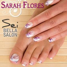 If you want to give a new look to your nails choose french manicure nail art design. Funky french tip nails design ideas. French manicure designs for wedding. French Nails, Purple French Manicure, French Manicure Nails, French Manicure Designs, Pedicure Designs, Toe Nail Designs, Fall Nail Designs, Toe Nail Art, Toe Nails