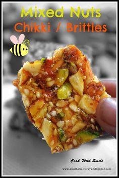 MIXED NUTS OR DRY FRUIT CHIKKI RECIPE/ MIXED NUTS BRITTLE | Cook With Smile