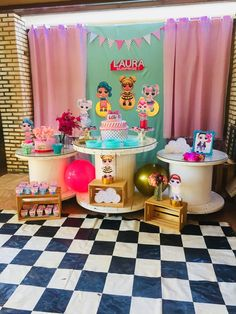 10th Birthday Parties, Birthday Party Themes, Doll Party, Lol Dolls, Party Activities, Birthday Decorations, Birthdays, Surprise Cake, Lalaloopsy