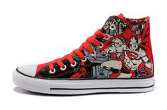 332a4778856c6 Converse Shoes Red Authentic DC Comics- Superman Chuck Taylor All Star  Womens Mens Canvas Hi Sneakers -   dxsneaker