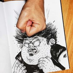 """""""Inkteractive"""" Drawings by Alex Solis."""