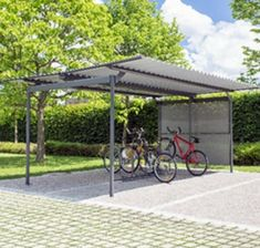 Lupo - Velopa Schweiz Pergola, Outdoor Structures, Bike Shelter, Switzerland, Outdoor Pergola