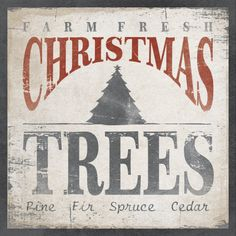 Wood Sign Made to Order - CHRISTMAS TREES 16 x 16. $59.00, via Etsy.