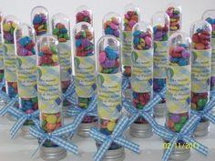 Lembrancinha de Chá de Fraldas - Tubetes com Confeti - Papeleira Maluca