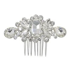 Crystal rhinestone ❤ liked on Polyvore featuring accessories, hair accessories, hair comb, hair comb accessories, crystal hair comb, crystal hair clips and bridal comb