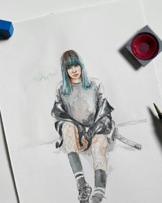 LISA ~D-5 blackpink~♤ #LALICE#LISA#BLACKPINK #블랙핑크 #blackpinkfanart #lisafanarts #watercolor #kpopfanart #illustrator #illustration #draw