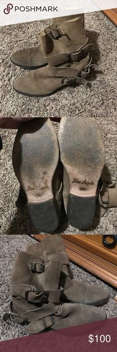 Free People Sunbelt Boots The perfect distressed, worn out boot! By Free People...size 38 Free People Shoes