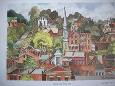 """Vintage Watercolor Images - Galena Illinois """" I have a very dear friend whose family owned a large house in Galena which also had an antique shop."""