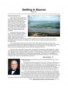 LDS Freebie Handouts: Lesson 29 - Building the Kingdom of God in Nauvoo Illinois