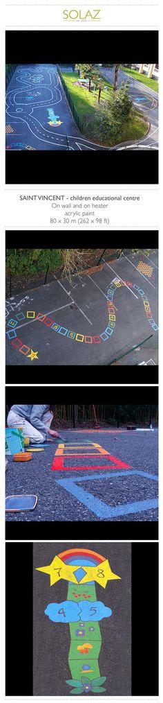 SAINT VINCENT - children educational centre by Helene Bataille, via Behance -  www.designbysolaz.com #drawing #illustration #painting #paint #mural #wallpainting #game #games #kids #children #school #handwork