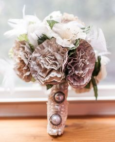 """Photocopy your favorite Harry Potter passages and turn them into paper flowers. 