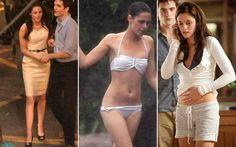 """O estilo - Bella Swan  O vestido branco usado por Bella para passear no Rio de Janeiro com Edward logo após o casamento em """"Amanhecer - Parte 1"""" já mostra uma Bella mais feminina e sofisticada. Até biquíni ela usou! As peças escuras saem um pouco de cena para dar lugar a peças mais claras."""