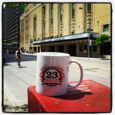 We're at Loblaws Maple Leaf Gardens today! #23degreesroastery #23drmug #toronto #coffee #freshbrew #pcpoints #GTA #MLG #Loblaws #instoredemo #MorningStar #SuckerPunch #MugShot #LiquidMettle #CarltonSt