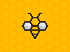 A honey bee, designed on a honeycomb grid!