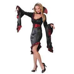 Vampiress Ruffle with Collar Adult Women's Costume - OrientalTrading.com