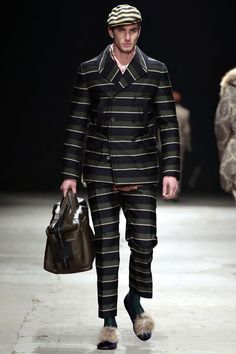 Few men could actually pull this off. // Andrea Pompilio AW13