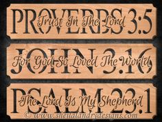 SLDK534 - Proverbs 3:5, John 3:16 & Psalm 23:1 Pattern Set
