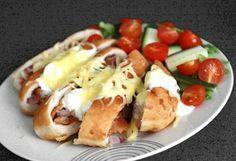 Lángosban sült csirkefalatok friss salátával | NOSALTY – receptek képekkel
