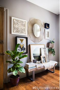 #MyHomeSense guide to a foyer that's bursting with personal style:  1. Bench…