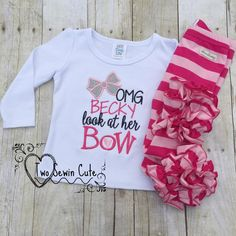 OMG Becky Look At Her Bow Girls Shirt, Pink Bow Shirt, OMG Becky Shirt, M2M Sew Sassy, M2M Cupid Icings by TwoSewinCute on Etsy