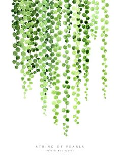 "Watercolor string of pearls illustration Mini Art Print by blursbyaiShop - Without Stand - 3"" x 4"""