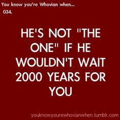 You know you're Whovian when... [Or take you around in time on his TARDIS]