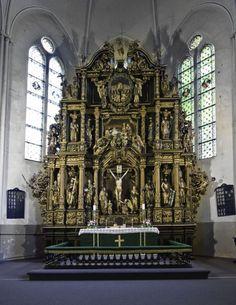 Nikolauss Sefrenss (1662-1710) - Liepājas Sv. Annas baznīcas altāra retabls (1697).