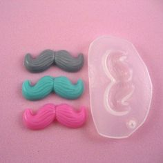 Mustache mold resin MOLD by snew on Etsy