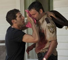 the walking dead Shane and Rick. I love you, man