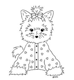 yorkie coloring page - 1000 images about dessin yorkie on pinterest yorkie