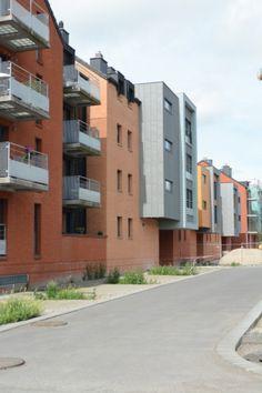 Apartment building in Mons (Belgium) by Archittetura Dore   #Architecture #Project #QuartzZinc #QUARTZZINC #Façade #Facade #Belgique #CollectiveBuildings #Belgium #Zinc #VMZINC