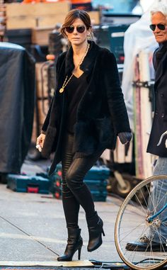 On set! The actress is ready for a day of filming on the Ocean's Eight set in New York City.