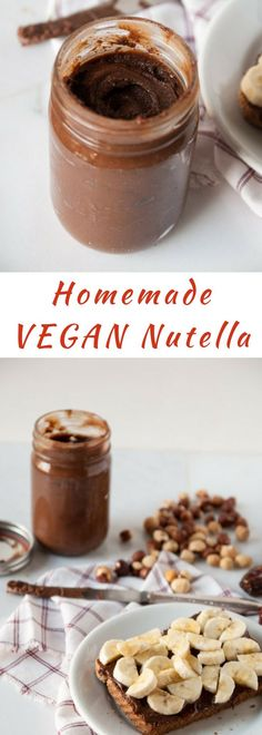 Hazelnuts and dates are blended together to make the perfect sweet homemade vegan nutella!