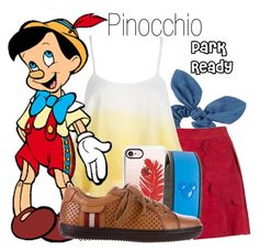 """Pinocchio~ DisneyBound"" by basic-disney ❤ liked on Polyvore featuring Dorothy Perkins, Andrea Bogosian, WithChic, Casetify, Disney and Bally"