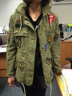 My diy badges and patches military jacket
