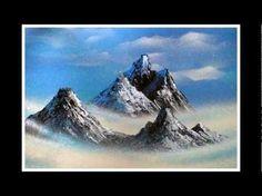 Mountain range spray paint art - YouTube