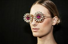 Great eyewear shot from FH by Fause Haten A/W13 collection. #spfw