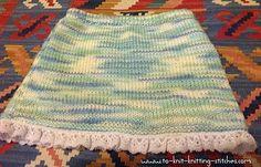 Cute Short Skirt With Lacy Edge - Super Easy Knitting Pattern For Beginners Easy Knitting Patterns, Knitting For Kids, Knitting Stitches, Baby Patterns, Baby Knitting, Crochet Patterns, Toddler Skirt, Baby Skirt, Ruffle Skirt