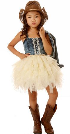 Bunnies Picnic - Ooh La La Couture Denim Tutu Dress in Champagne - Boutique Clothing for Girls and Boys