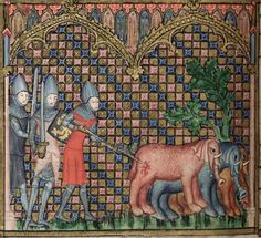 Bodleian Library MS. Bodl. 264, The Romance of Alexander in French verse, 1338-44; 62v