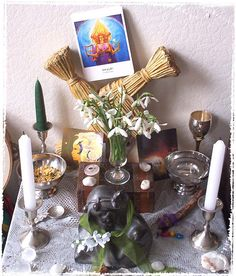 Imbolc altar another idea found on someone else's pintrest board