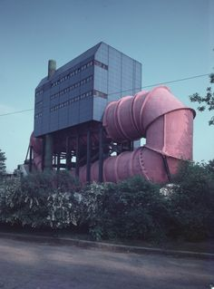 Circulation Tank of the Hydraulics Laboratory (1968-75) of Technical University Berlin, Germany, by Ludwig Leo