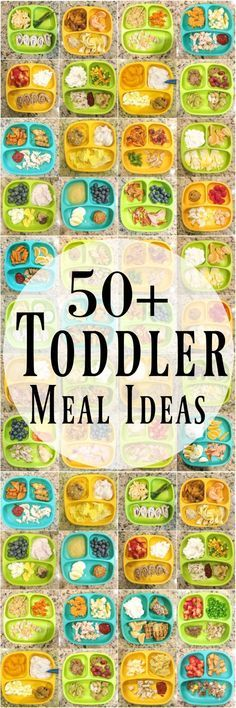Need some healthy toddler meal ideas? Here are 50 kid-friendly ideas for breakfast, lunch and dinner to help inspire you if you're stuck in a rut!