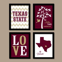 Texas State University College Go Bobcats Custom by trmDesign, $35.00